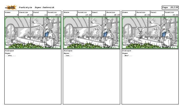 Scene 6 Duration 15:04 Panel 11 Duration 00:10 Dialogue Zayaz ...dva,... Scene 6 Duration 15:04 Panel 12 Duration 00:05 Di...