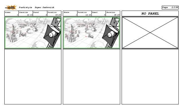 Scene 1 Duration 12:10 Panel 4 Duration 00:20 Scene 1 Duration 12:10 Panel 5 Duration 00:20 NO PANEL Pushistyie Super Sado...
