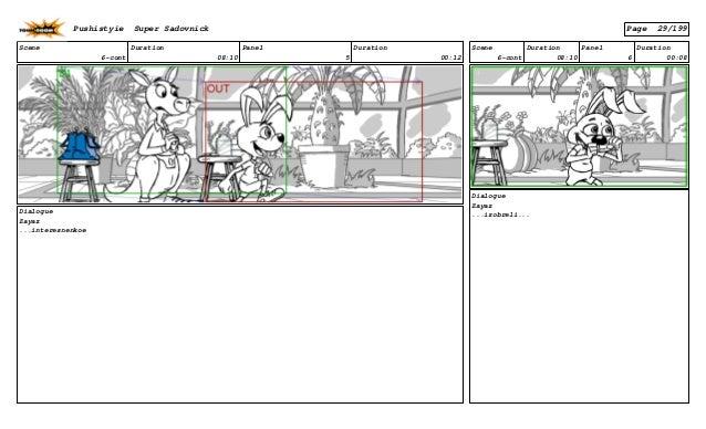 Scene 6-cont Duration 08:10 Panel 5 Duration 00:12 Dialogue Zayaz ...interesnenkoe Scene 6-cont Duration 08:10 Panel 6 Dur...
