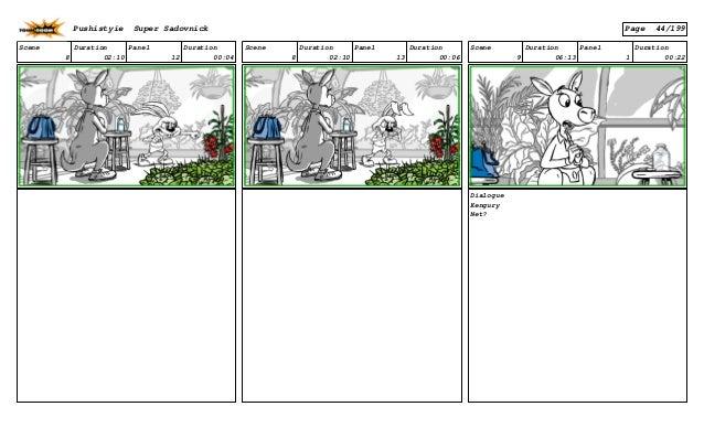 Scene 8 Duration 02:10 Panel 12 Duration 00:04 Scene 8 Duration 02:10 Panel 13 Duration 00:06 Scene 9 Duration 06:13 Panel...