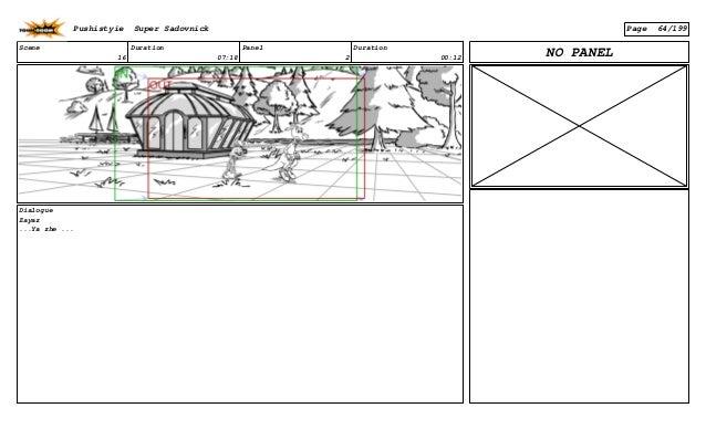 Scene 16 Duration 07:18 Panel 2 Duration 00:12 Dialogue Zayaz ...Ya zhe ... NO PANEL Pushistyie Super Sadovnick Page 64/199