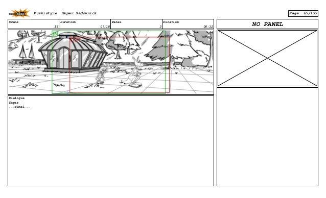 Scene 16 Duration 07:18 Panel 3 Duration 00:12 Dialogue Zayaz ...dumal... NO PANEL Pushistyie Super Sadovnick Page 65/199