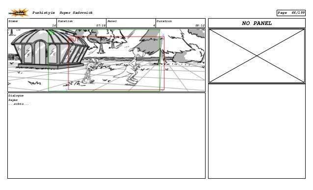 Scene 16 Duration 07:18 Panel 4 Duration 00:12 Dialogue Zayaz ...schto... NO PANEL Pushistyie Super Sadovnick Page 66/199