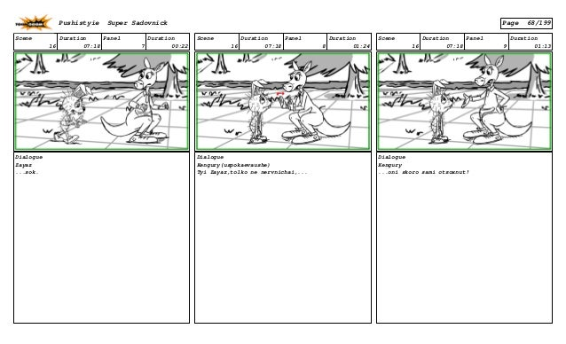 Scene 16 Duration 07:18 Panel 7 Duration 00:22 Dialogue Zayaz ...sok. Scene 16 Duration 07:18 Panel 8 Duration 01:24 Dialo...