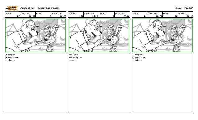 Scene 20 Duration 11:05 Panel 8 Duration 00:08 Dialogue Michailyich ...le... Scene 20 Duration 11:05 Panel 9 Duration 00:0...