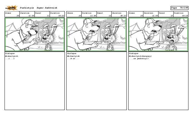 Scene 20 Duration 11:05 Panel 11 Duration 00:23 Dialogue Michailyich ...i...i Scene 20 Duration 11:05 Panel 12 Duration 00...