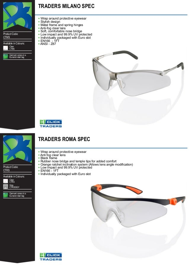 CLICK Traders MILANO METAL Frame Safety Spectacles//Glasses CLEAR Lens
