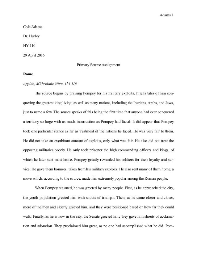 source analysis essay example