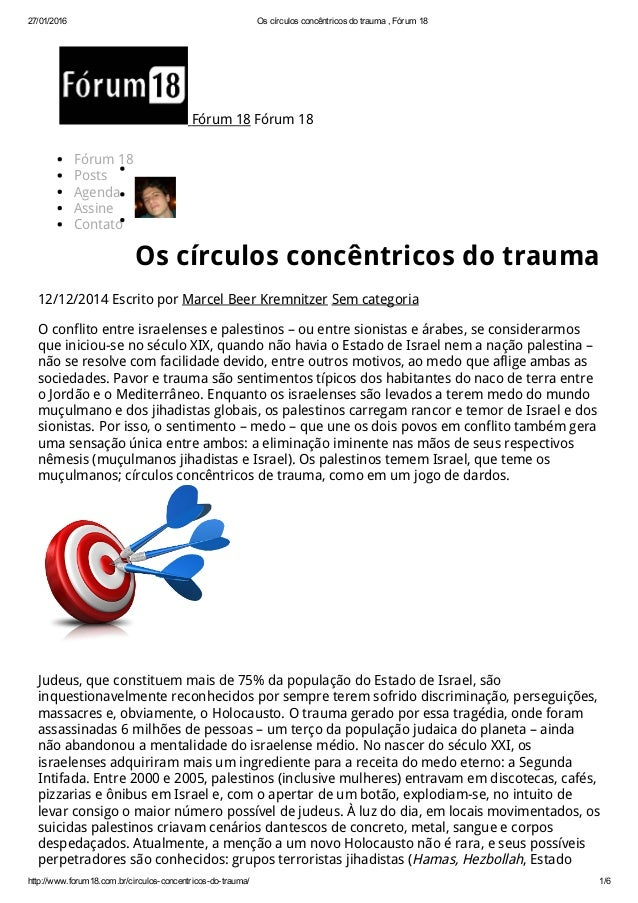 27/01/2016 Oscírculosconcêntricosdotrauma,Fórum18 http://www.forum18.com.br/circulosconcentricosdotrauma/ 1/6 Fó...