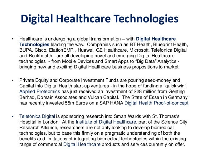 Digital healthcare detailed presentation pdf digital healthcare digital healthcare technologies 9 malvernweather Image collections