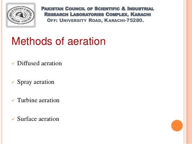 methods of aeration AERATION UNITS...