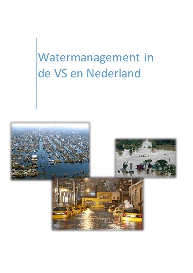 Watermanagement in de VS en Nederland