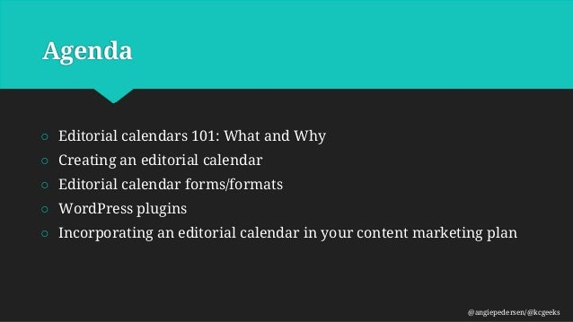 WPKC-Editorial Calendars Slide 2