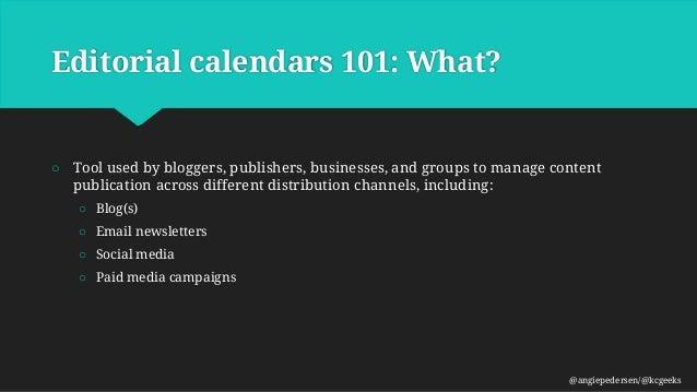WPKC-Editorial Calendars Slide 3