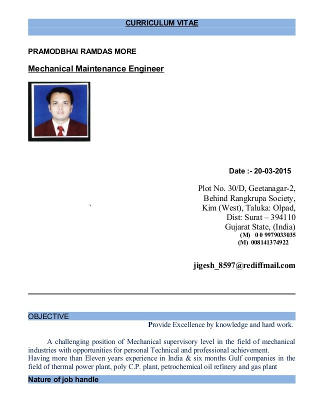 mechanical maintenance engineer 1