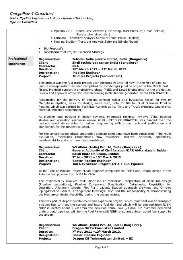3 gangadharsganachari senior pipeline engineer - Pipeline Engineer Sample Resume