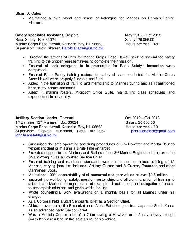 stuart gates resume 2