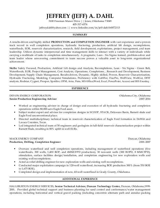 DAHL JEFFREY - CV - Resume 20161026