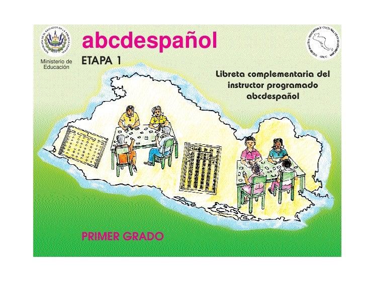 abcdespañol Ministerio de  Educación                 ETAPA 1                                Libreta complementaria del    ...
