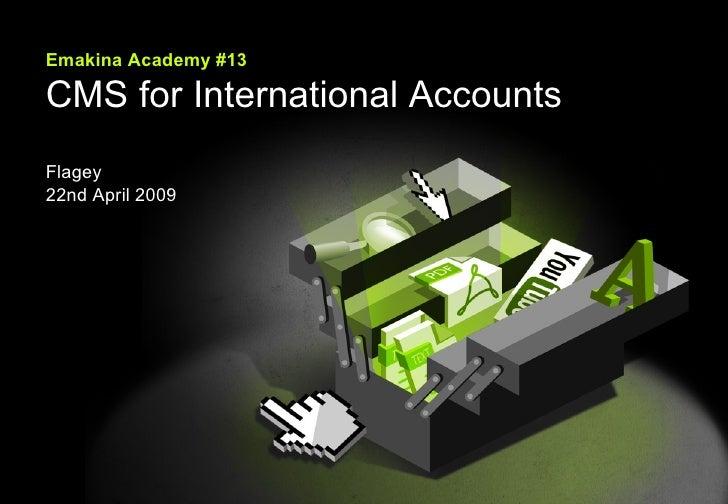 Emakina Emakina Academy #13 CMS for International Accounts Flagey 22nd April 2009
