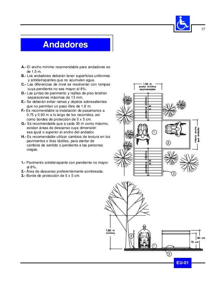 18             BanquetasA.- Los pavimentos en las banquetas deberán cumplir    las mismas condiciones que las recomendadas...