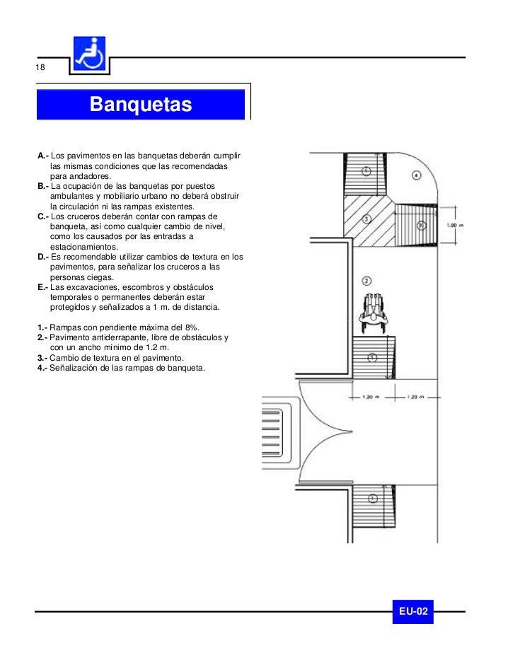 19               EsquinasA.- Los pavimentos en las esquinas de banqueta    deberán cumplir las mismas condiciones que las ...