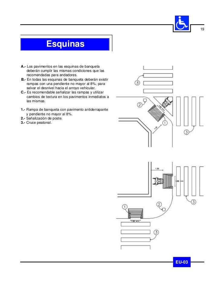 20               CrucerosA.- Todos los cruceros peatonales deberán cumplir las    mismas condiciones que las recomendadas ...