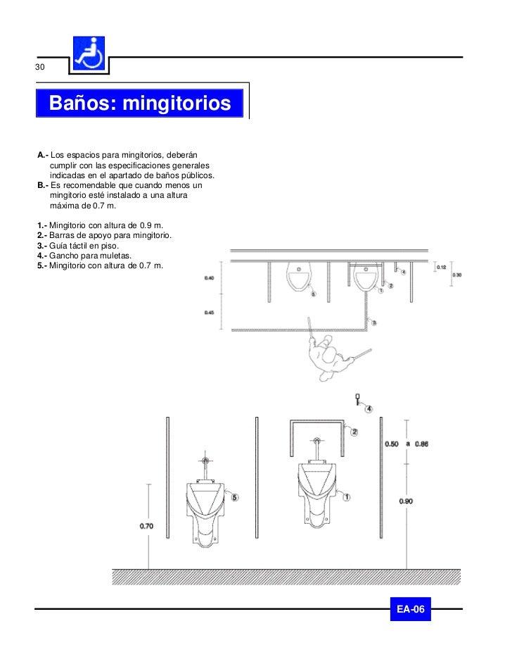 31   Baños: accesoriosA.- Los accesorios en baños, deberán instalarse    por debajo de 1.2 m de altura y no    obstaculiza...