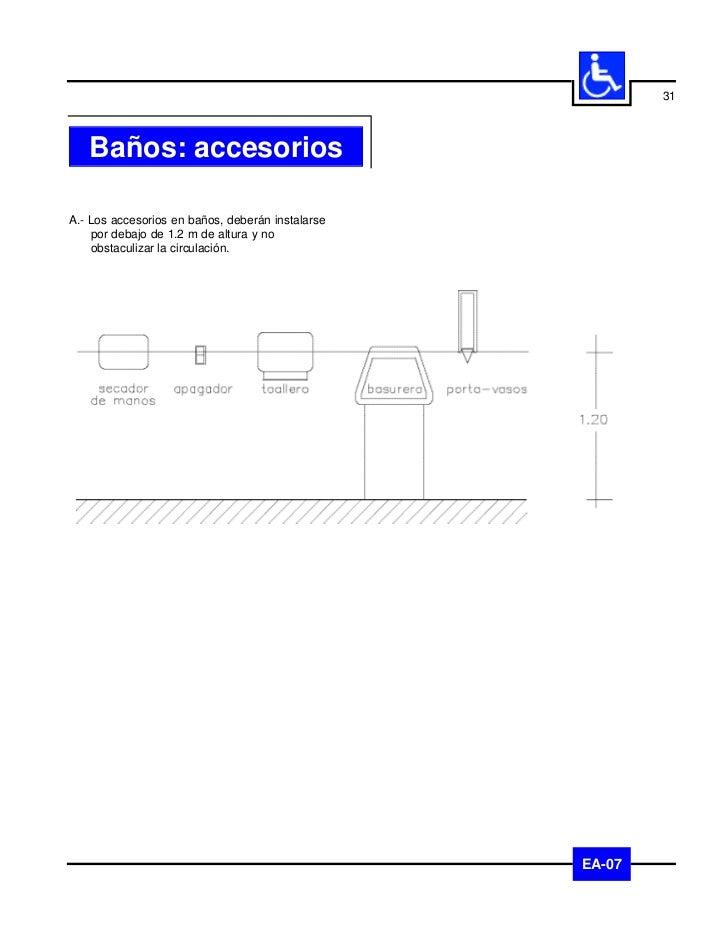 32          CirculacionesA.- Las circulaciones deberán tener anchos    mínimos de 1.2 m y pavimentos    antiderrapantes qu...