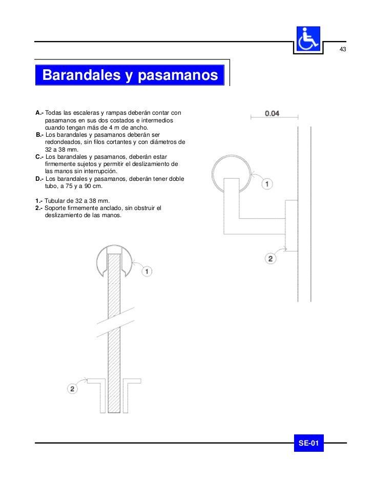 44     Barandales y pasamanos                              SE-01