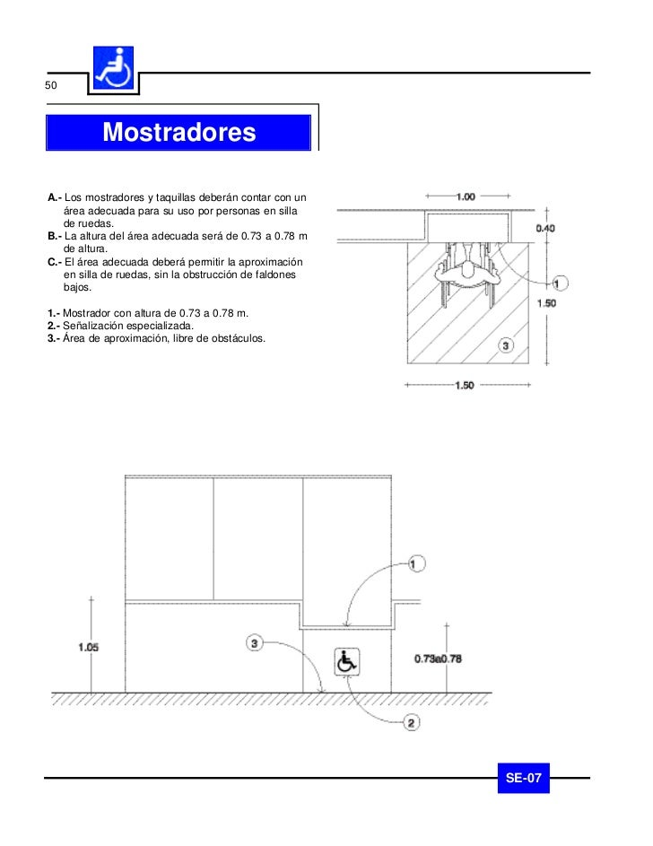 51                     PisosA.- En pisos interiores o exteriores se deberán utilizar       1    acabados antiderrapantes q...