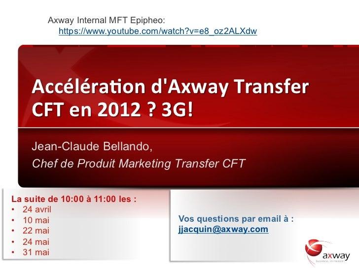 Axway Internal MFT Epipheo:                     https://www.youtube.com/watch?v=e8_oz2ALXdw         Accéléraon dAxway ...