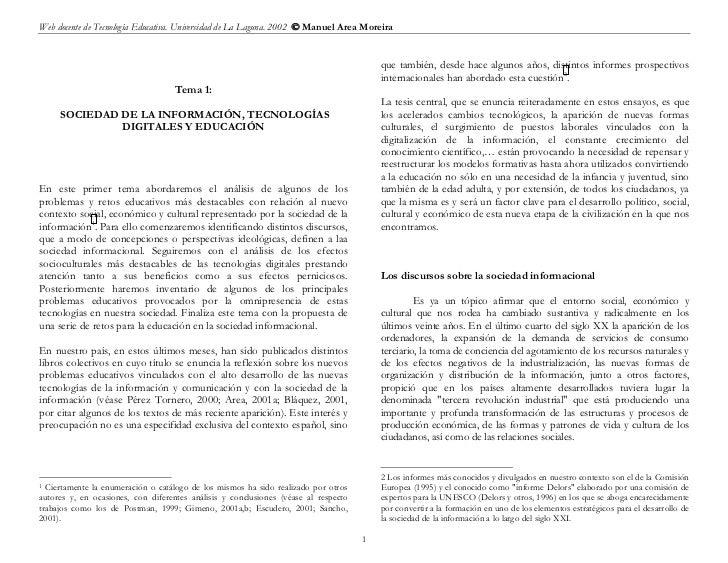Web docente de Tecnología Educativa. Universidad de La Laguna. 2002  Manuel Area Moreira                                 ...
