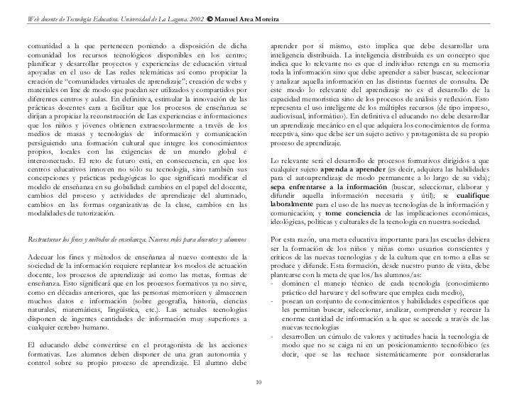 Web docente de Tecnología Educativa. Universidad de La Laguna. 2002  Manuel Area Moreiracomunidad a la que pertenecen pon...