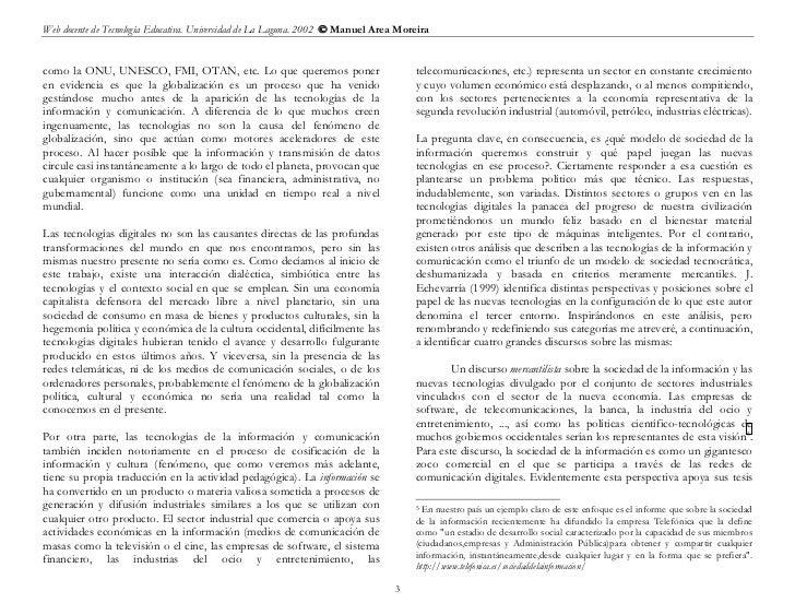 Web docente de Tecnología Educativa. Universidad de La Laguna. 2002  Manuel Area Moreiracomo la ONU, UNESCO, FMI, OTAN, e...