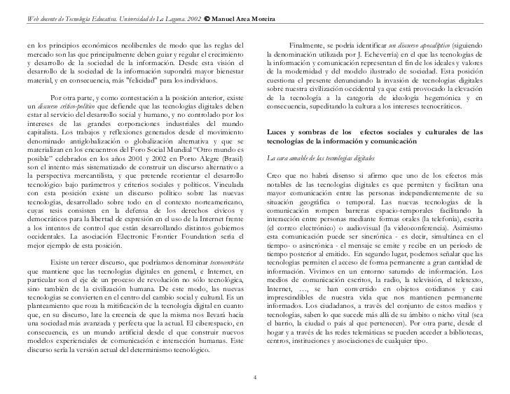 Web docente de Tecnología Educativa. Universidad de La Laguna. 2002  Manuel Area Moreiraen los principios económicos neol...