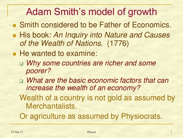 Adam smith wealth of nations summary sparknotes