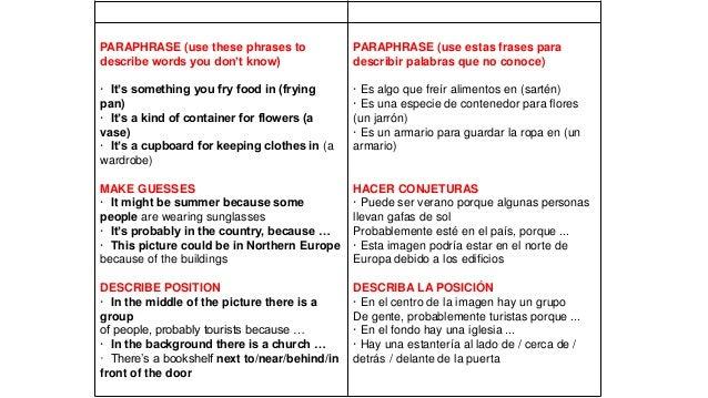 Describir Una Imagen En Ingles