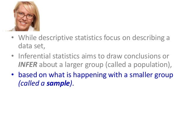 1 what are the similarities between descriptive and inferential statistics What are the similarities between descriptive and inferential statistics   inferential statistics provides a detailed summary of data which will in-turn predict  with degree of percent the probability that an event will occur  image of page 1.