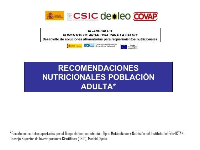 AL-ANDSALUD.                                   ALIMENTOS DE ANDALUCIA PARA LA SALUD:                       Desarrollo de s...