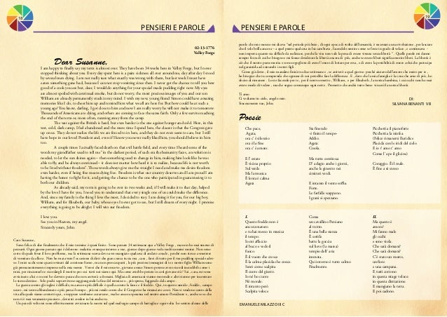 19  18  pensieri e parole 02-13-1776 Valley Forge    Dear Susanne,  I am happy to finally say my term is almost over. The...