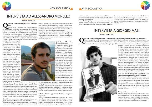 5  4  vita scolastica  INTERVISTA AD ALESSANDRO MORELLO ALICE CALANDRA IV H  Q  uali sono i problemi del Cannizzaro, e com...