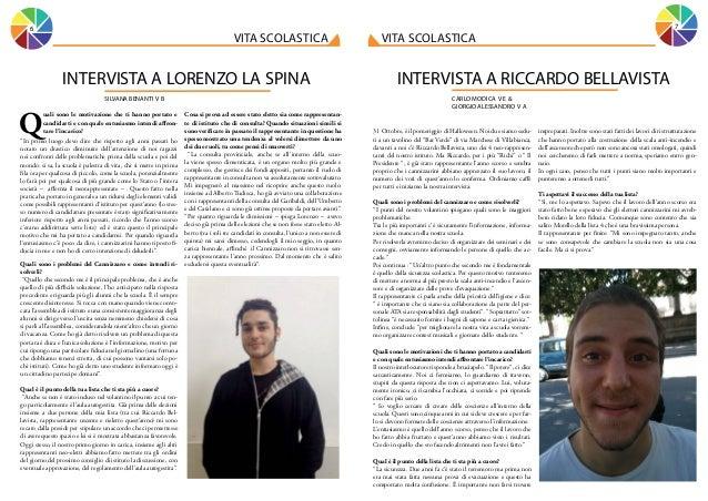 7  6  vita scolastica  INTERVISTA A LORENZO LA SPINA SILVANA BENANTI V B  Q  uali sono le motivazione che ti hanno portato...