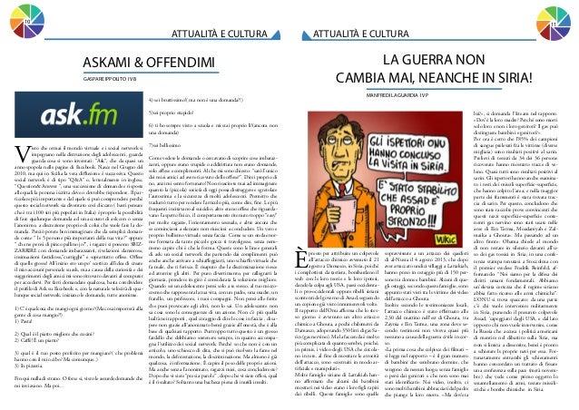 10  11  ATTUALITÀ E CULTURA  ATTUALITÀ E CULTURA  LA GUERRA NON CAMBIA MAI, NEANCHE IN SIRIA!  ASKAMI & OFFENDIMI GASPARE ...