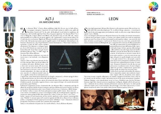 12  13 CARLO MODICA V E & GIORGIO ALESSANDRO IV A  CARLO MODICA V E & GIORGIO ALESSANDRO IV A  ALT-J  LEON  AN AWESOME WAV...