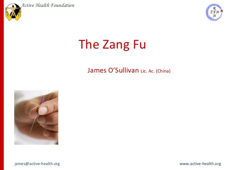 The Zang Fu James O'Sullivan  Lic. Ac. (China)