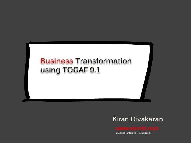 www.eturnti.com enabling enterprise intelligence Kiran Divakaran