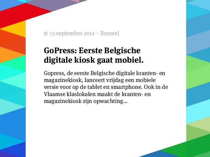 """11 september 2012 – Brussel   Delhaize stelt Senior VicePresident Digital aan""""Delhaize moet digitale primus worden""""Delhaiz..."""