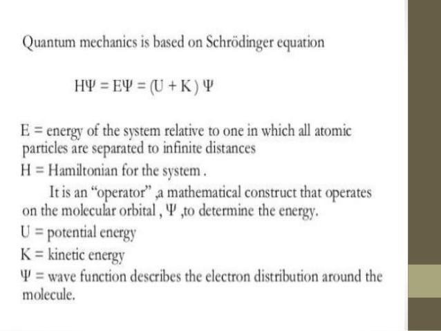Types Of Quantum Mechanics Ab-Initio Methods Hartree-Fock Approximation Density Functional Theory Semi-Imperical Methods