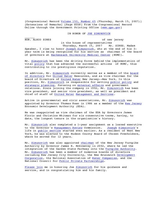 [Congressional Record Volume 153, Number 45 (Thursday, March 15, 2007)] [Extensions of Remarks] [Page E558] From the Congr...